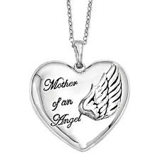 memorial necklace of an angel sterling silver memorial jewelry necklace