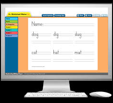a worksheet maker lite learning without tears