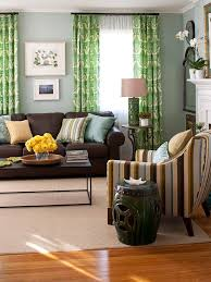 Light Green Curtains Decor 21 Best Green Brown Living Room Images On Pinterest Living