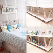 custom built birch shelf to match birch decals in where the wild