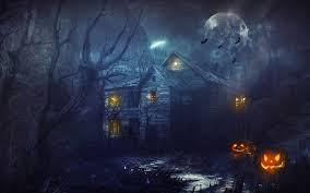 halloween phtoshop background haunted house desktop wallpaper wallpapersafari