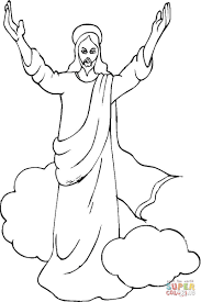ascension of jesus coloring page coloring home