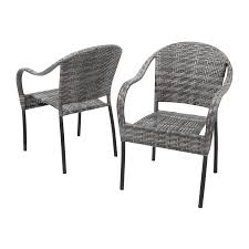 Stackable Patio Furniture Set - shop best selling home decor sunset 2 count grey plastic stackable