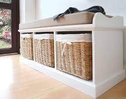 Cushioned Storage Bench Storage Bench White Cushion
