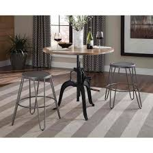 coaster galway adjustable height dining table set with crank in