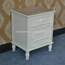 shabby chic ivory wash bedside tables single drawer cabinet