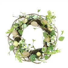 egg wreath 20 decorative floral and berry artificialburlap and