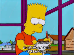 Bart Simpson Meme - happy bart simpson gif find share on giphy