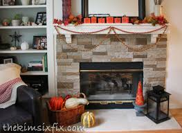 stone fireplaces pictures airstone stacked stone fireplace update the kim six fix