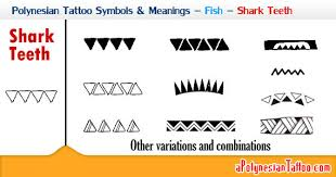 polynesian symbols meanings fish shark teeth