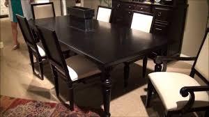 summer hill rectangular leg dining room set in midnight by