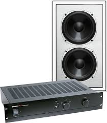 boston home theater system boston acoustics vsi s8w2 in wall subwoofer with ba sa 1 amplifier