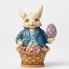 jim shore easter baskets jim shore heartwood creek 4051424 easter bunny in basket mini
