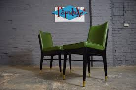Retro Vinyl Dining Chairs Vintage Vinyl Dining Chairs Mikemie
