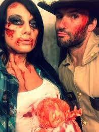 Walking Dead Costumes Halloween Halloween Diy Couples Costume Rick Dead Lori Grimes