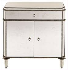 bedroom amazing french mirrored bedside table one drawer night