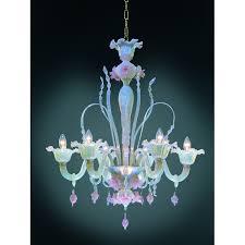 Glass Blown Chandelier Pink Murano Glass Chandelier Custom Lighting Deco Decor