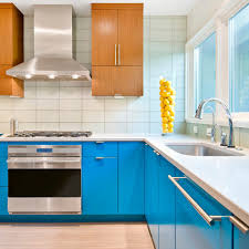 pleasing bright blue cabinets bathroom beach style with blue and
