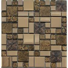 kitchen backsplash stickers plated metal coating tiles glass mosaic tile kitchen