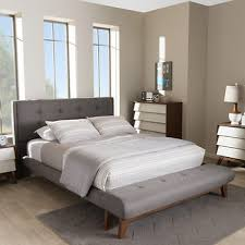 Bjs Bed Frame Baxton Studio Reena Size Bed And Bench Set Gray Bj S