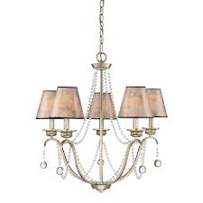 Quoizel Ceiling Light Shop Quoizel Jenna 25 8 In 5 Light Gold Country Cottage Tiered