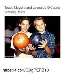 Meme Tobey Maguire - tobey maguire and leonardo dicaprio bowling 1989 httpstco3g8gpefb10