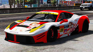 ferrari 458 widebody ferrari 458 widebody itasha livery gta5 mods com
