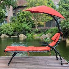Outdoor Lounge Chair With Canopy Dream Chaise Lounger Chair With Sun Shade Canopy