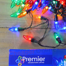 12m 120 led premier large traditional bulb outdoor christmas