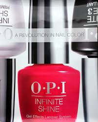 poster one side opi infinite red