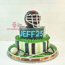 3d lacrosse 2 layer cake