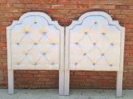 Mediterranean Home Builders Interior Diy Tufted Headboard With Nailhead Trim Rustic Home