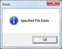 vba check if file exists in location or folder explained