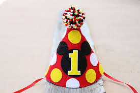 mickey mouse 1st birthday boy mickey mouse 1st birthday hat boys birthday felt party