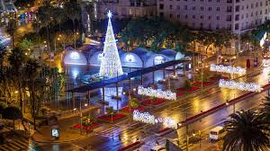 big christmas malaga spain christmas timelapse with fast moving