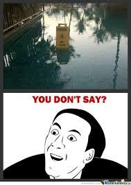 Wet Meme - wet floor you don t say know your meme