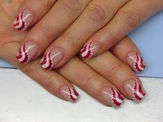 candy cane nails for christmas christmasnails holidaynailart i