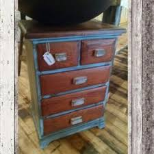 Upcycled Home Decor Distressed White And Gray Cabinet With Drawer 224 99