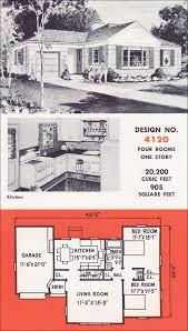 1951 weyerhaeuser home plans design no 4120 rambler style