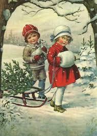 vintage christmas children vintage vintage