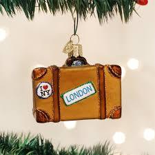 suitcase ornament world glass ornaments world