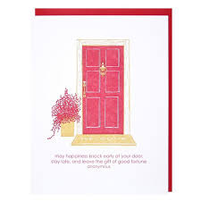 front door new home card new home congratulations smudge ink