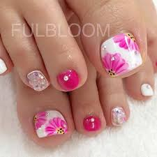 25 eye catching pedicure ideas for spring flower toe nails toe