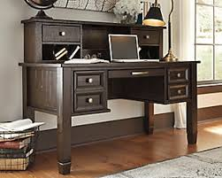 cross island desk w storage desks ashley furniture homestore