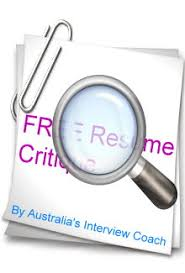 Resume Critique Interview Coach Interview Coaching Australia