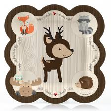 woodland creatures baby shower woodland creatures baby shower dinner plates 8 ct