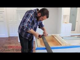 installing kitchen island kitchen island support brackets for countertops easy diy