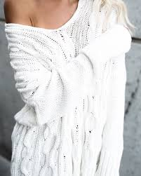 good natured cable knit cotton sweater cream u2013 vici