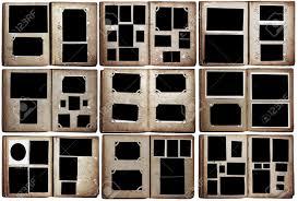 photo albums set isolated on white background stock photo