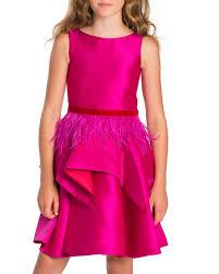 zoe peplum dress w feather belt size 7 16